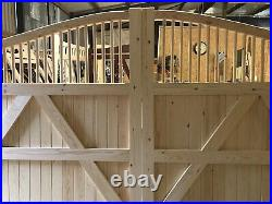 Large Wooden Swan Neck Gates Driveway Gate Decorative Bespoke The Elite Harper