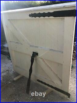 Large heavy duty solid wooden driveway yard farm gates gate