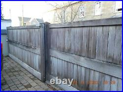 Large, heavy duty, wooden driveway gates/fence