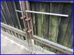 Large used wooden driveway gates 4.6m Wide (15 Feet)