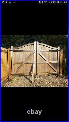 Large wooden driveway gates