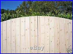 MADE TO MEASURE Arched Top HEAVY DUTY Solid Boarded T/G Wooden Driveway Gates