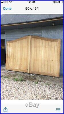 Oak Wooden Driveway Gate