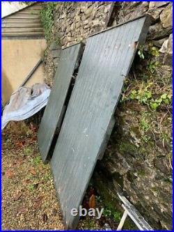 Old wooden driveway garden gates handmade Rattery Sawmills Devon