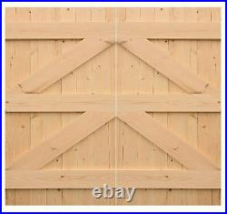 PAIR OF WOODEN DRIVEWAY/GARDEN GATES AND SINGLE GATE'BRUTON' (shed71)
