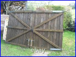 Pair Garden Driveway Wooden GATES 5ft high 8ft Wide total KENT