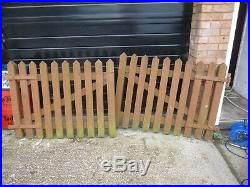 Pair Of Chunky Wooden Double Driveway Gates