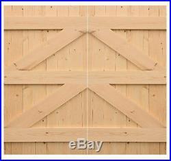 Pair Of Wooden Driveway/garden Gates'bruton
