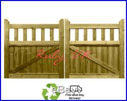 Pair of Cottage Driveway Gates, Cottage Entrance Gates. Handmade wooden Gates