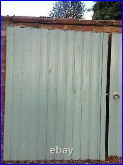 Pair of Wooden Garden/driveway Gates. Matchboard, heavy duty