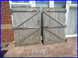 Pair of bespoke wooden driveway gates, wooden garden gates, wooden yard gates