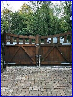 Pair of wooden driveway gates used