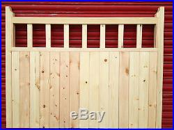 Pair of wooden timber driveway gates bespoke products made to measure