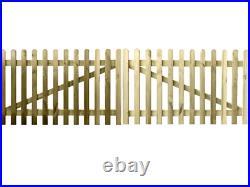 Premium Picket Entrance Gate Wooden Driveway Gate Various Sizes