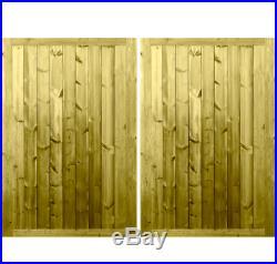Premium Tongue & Groove Entrance Gate Wooden Driveway Gate Garage Doors
