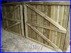 Ready To Install Wooden Driveway Gates Treated Gates Garden Gates Double Gates