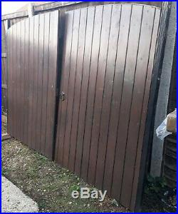 Solid Wooden Arched DriveWay Gates Garden Gates