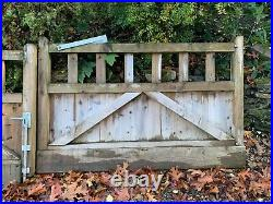 Solid, wooden driveway gates