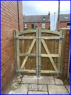 Stockton Curve Timber Entrance Gates Bespoke Wooden Driveway Gates Made To Order