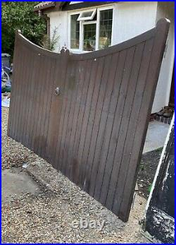 Swan Neck Wooden Driveway Gates Garden Gates