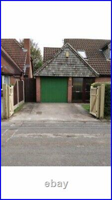 Tanalised Wooden Bi-folding Driveway Gates 12ft wide X 5ft high In Cottage Style