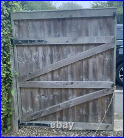 Used wooden driveway gates