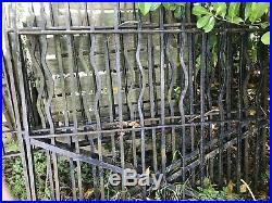 Vintage wrought iron driveway gates/wooden Gates/farm Gates/manor House/horses