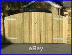 WOODEN DRIVEWAY GATES HEAVY DUTY Pressure Treated Any Size Made 6ft X 8ft