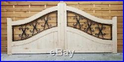 WOODEN DRIVEWAY GATES, LUXURY GATES, DOUBLE GATES, TREATED HEAVY DUTY 3m wide