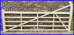 Wooden 5 Bar Curved Heel Driveway Gate Made To Measure See Info
