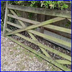 Wooden 5 Bar Gate Driveway Field 12ft By 4ft only 3 Years Old, great condition