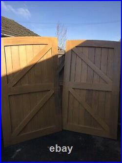 Wooden Arched driveway gates (Unused) Very Heavy
