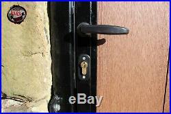 Wooden Clad Bi-folding Driveway Gate #104 Composite Wood No Maintenance