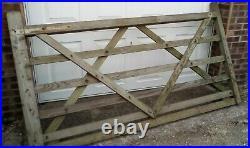 Wooden Diamond Braced 5 Bar Field Farm/ Driveway Gate 7ft 9 ins