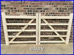 Wooden Diamond Braced 5 Bar farm driveway gates Made To Measure From 3ft 12ft