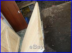 ### Wooden Double Gates Driveway Timber Garden Tongue & Grooved Fully Framed