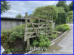 Wooden Drive Way Gate 2 Pieces