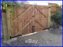 Wooden Drive Way Gates Gates All sizes Heavy Duty! Tongue Groove/Featheredge