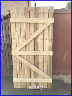 Wooden Driveway/Garden Gates, Pressure Treated Bespoke Gates Made to Measure
