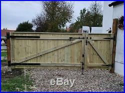 Wooden Driveway Gate H4ft W12ft Heavy Duty Frame 4.5x10cm