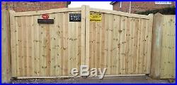Wooden Driveway Gate H5ft W12ft Heavy Duty Frame 7cmx10cm