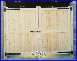 Wooden Driveway Gate H6ft W10ft Frame 10cmx7cm Heavy Duty