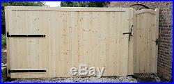 Wooden Driveway Gate H6ft W10ft Frame 7x10cm Heavy Duty