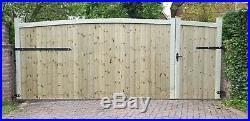 Wooden Driveway Gate H6ft W14ft Heawy Duty Frame 7cmx4inch (10 Cm)