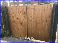 Wooden Driveway Gates 1200 (4ft) Flat Top, Made To Measure