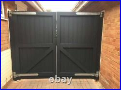 Wooden Driveway Gates 1800 (6ft) Flat Top, Made To Measure