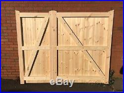 Wooden Driveway Gates 1800 mm (6ft) Flat Top 1/3, 2/3, Made To Measure