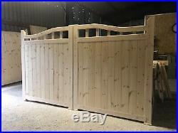 Wooden Driveway Gates 6 6 High X 10 Wide Swan Neck Design