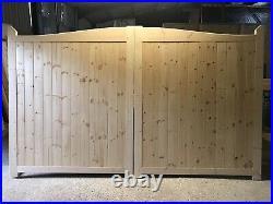 Wooden Driveway Gates 6 High Plus Single Matching Swan Neck Gate Plus Posts