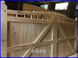 Wooden Driveway Gates 6 High X 12 Wide Even Split Plus 6 X 10 Uneven Split